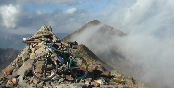 Mountain bike on Pizzo Marona